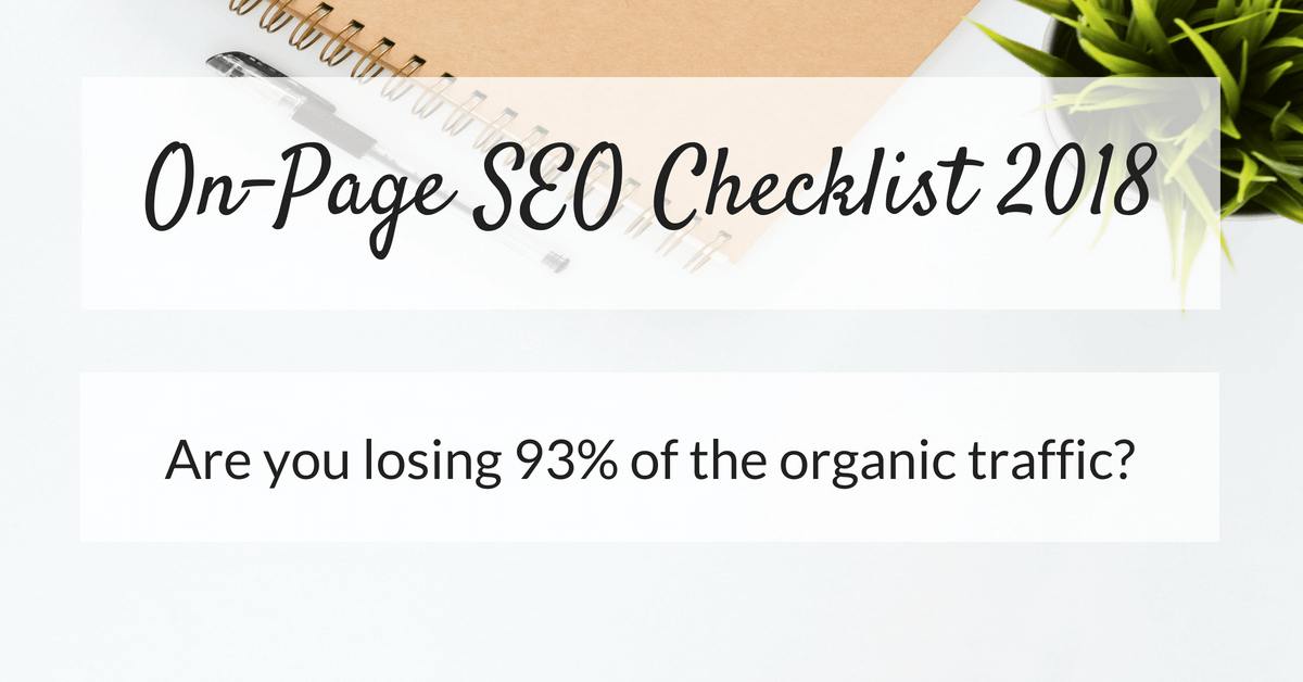 On-Page SEO Checklist 2018