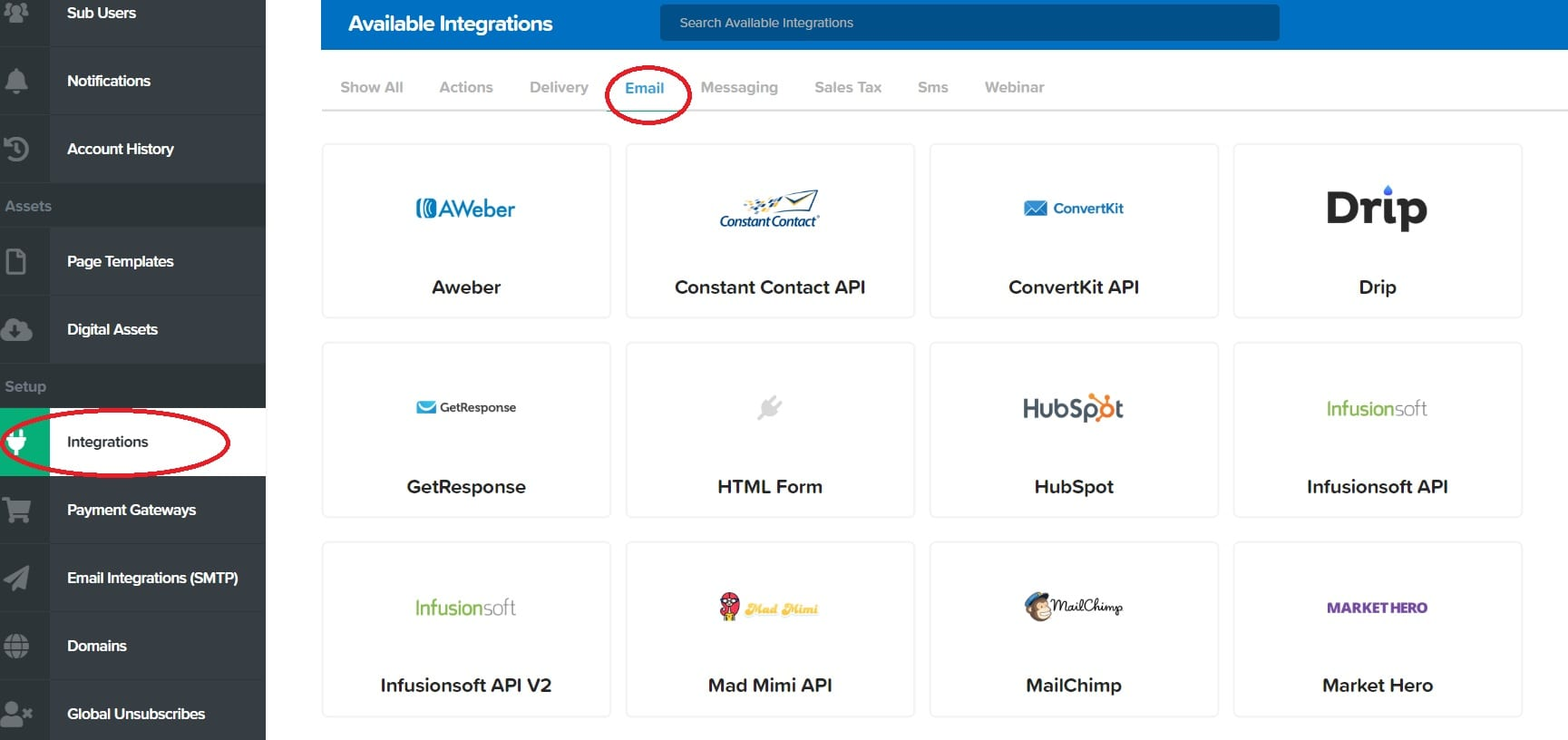 Clickfunnels integration with third party apps