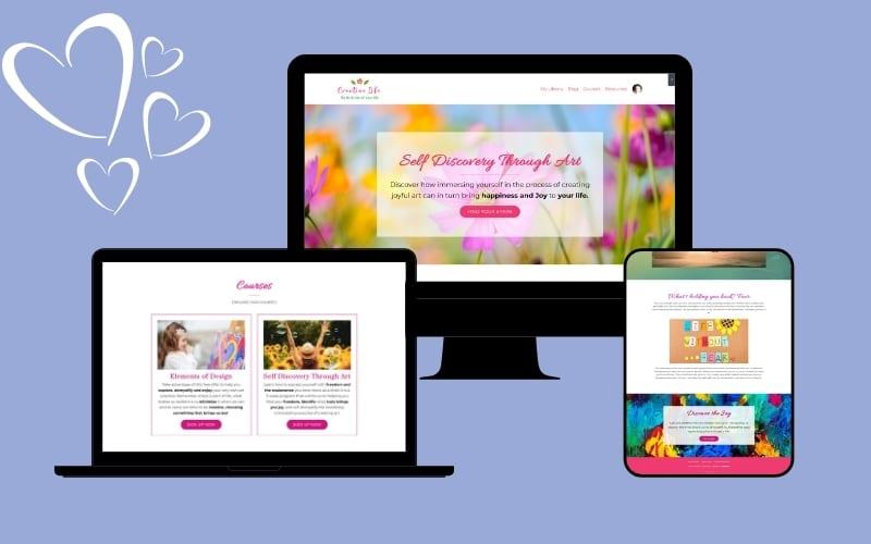 Kajabi website and branding by TechyGrrrl